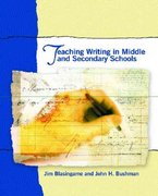 Teaching Writing in Middle and Secondary Schools 1st edition 9780130981639 013098163X