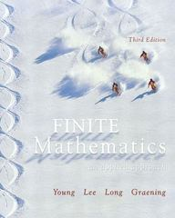 Finite Mathematics 3rd edition 9780321173348 0321173341