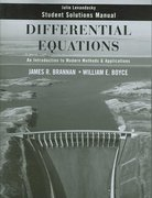 Differential Equations, Student Solutions Manual: An Introduction to Modern Methods and Applications 1st edition 9780470125533 0470125535