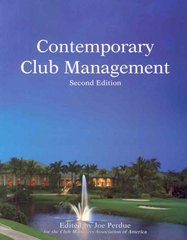 Contemporary Club Management 2nd edition 9780866122863 0866122869
