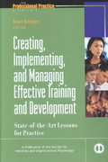 Creating, Implementing, and Managing Effective Training and Development 1st Edition 9780787953966 0787953962