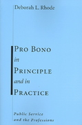 Pro Bono in Principle and in Practice 1st edition 9780804751070 0804751072
