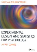 Experimental Design and Statistics for Psychology 1st edition 9781405100243 1405100249