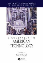 A Companion to American Technology 1st Edition 9781405179942 1405179945