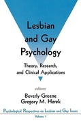 Lesbian and Gay Psychology 0 9780803953123 0803953127