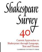 Current Approaches to Shakespeare Through Language, Text and Theatre 0 9780521523790 0521523796