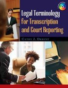 Legal Terminology for Transcription and Court Reporting 1st edition 9781418060855 1418060852