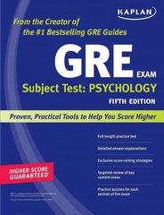 Kaplan GRE Subject Test: Psychology 5th Edition 9781419550447 1419550446