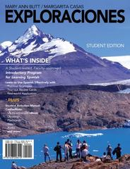 Exploraciones (with Student Activities Manual and Spanish CourseMate Printed Access Card) 1st Edition 9781428206410 1428206418