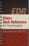 Ethics Desk Reference for Psychologists 1st edition 9781433803529 1433803526