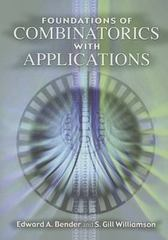 Foundations of Combinatorics with Applications 0 9780486446035 0486446034