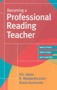 Becoming a Professional Reading Teacher 1st Edition 9781557668295 1557668299