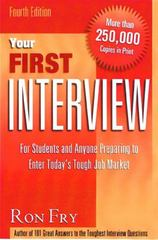 Your First Interview 4th edition 9781564145864 1564145867