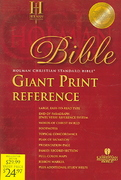 HCSB Giant Print Reference Bible 0 9781586401627 1586401629