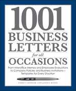1001 Business Letters for All Occasions 0 9781598694543 1598694545