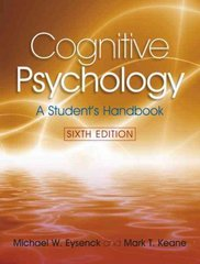 Cognitive Psychology 6th Edition 9781841695402 1841695408