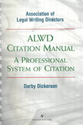 ALWD Citation Manual 1st Edition 9780735511934 0735511934