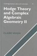 Hodge Theory and Complex Algebraic Geometry II 0 9780521802833 0521802830