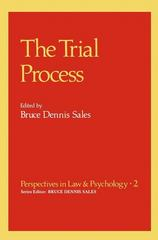 The Trial Process 1st edition 9780306404917 0306404915