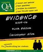 Evidence Q&A 2005-2006 6th edition 9781843147503 1843147505