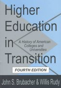 Higher Education in Transition 4th Edition 9781560009177 1560009179