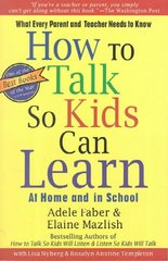 How To Talk So Kids Can Learn 1st Edition 9780684824727 0684824728