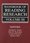 Handbook of Reading Research, Volume III 1st edition 9780805823998 0805823999