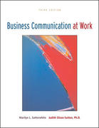 Business Communication at Work with OLC Premium Content Card 3rd edition 9780073314273 0073314277