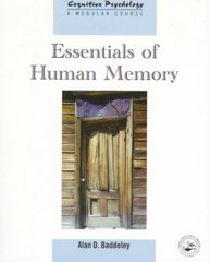 Essentials of Human Memory 1st Edition 9780863775451 0863775454