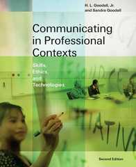 Communicating in Professional Contexts 2nd edition 9780534632298 0534632297