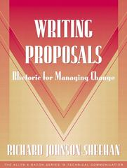 Writing Proposals (Part of the Allyn & Bacon Series in Technical Communication) 1st Edition 9780205326891 0205326897