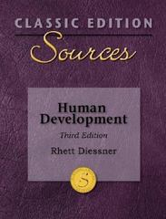 Classic Edition Sources: Human Development 3rd Edition 9780073379685 0073379689