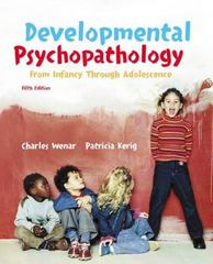 Developmental Psychopathology 5th edition 9780072820195 0072820195