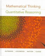 Mathematical Thinking and Quantitative Reasoning 1st edition 9780618777372 0618777377