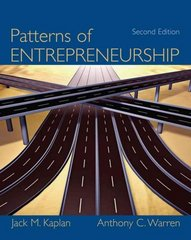 Patterns of Entrepreneurship Management 2nd edition 9780471737506 047173750X
