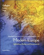 Representative Government in Modern Europe 4th edition 9780072977066 007297706X