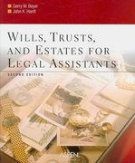 Wills, Trusts, and Estates for Legal Assistants 2nd edition 9780735558403 073555840X