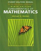 Student Solutions Manual for Van Dyke/Rogers/Adam's Fundamentals of Mathematics, 9th 9th edition 9780495106234 0495106232