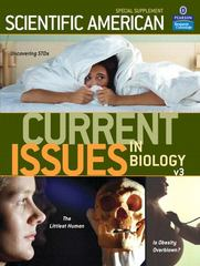 Current Issues in Biology Volume 3 1st edition 9780805375275 0805375279