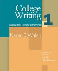 College Writing 1 1st edition 9780618230280 0618230289