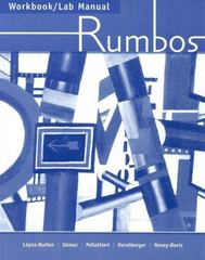 Workbook/Lab Manual for Rumbos 1st edition 9781413010237 1413010237