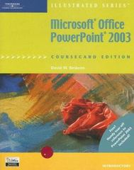 Microsoft Office PowerPoint 2003, Illustrated Introductory, CourseCard Edition 1st edition 9781418843045 1418843040