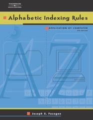 Alphabetic Indexing Rules 4th edition 9780538434720 0538434724