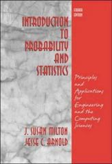 Introduction to Probability and Statistics 4th Edition 9780072468366 007246836X