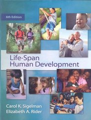 Life-Span Human Development 6th edition 9780495553403 0495553409