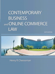 Contemporary Business and Online Commerce Law 6th edition 9780136015000 013601500X
