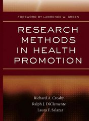 Research Methods in Health Promotion 1st Edition 9780787982638 0787982636