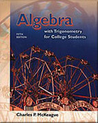 Algebra with Trigonometry for College Students (with CD-ROM, Make the Grade, and InfoTrac) 5th edition 9780534432959 0534432956