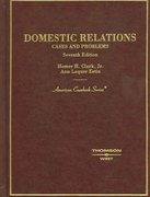 Domestic Relations, Cases and Problems 7th edition 9780314154910 0314154914
