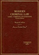 Modern Criminal Law 4th edition 9780314159021 0314159029